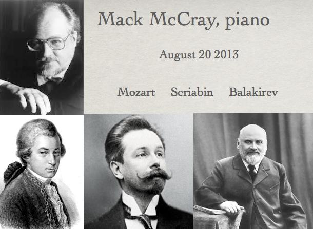 Mack McCray, piano