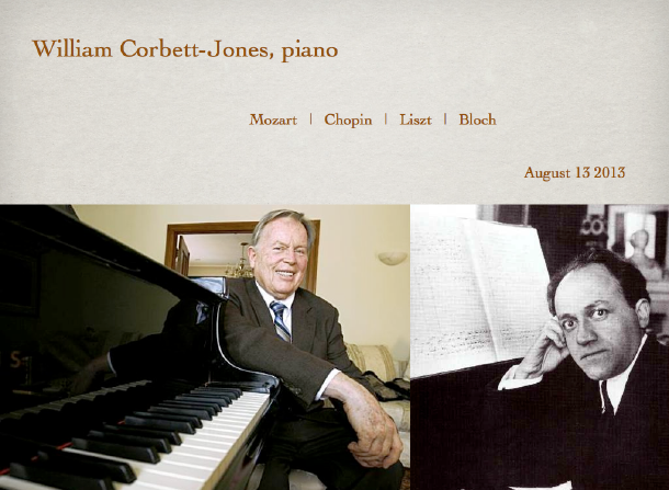 William Corbett-Jones, piano
