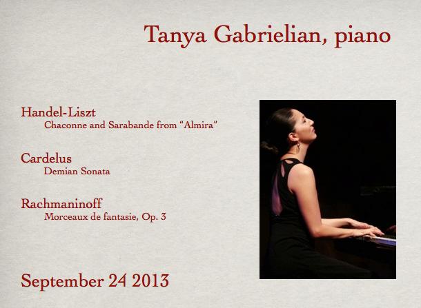 Tanya Gabrielian, piano