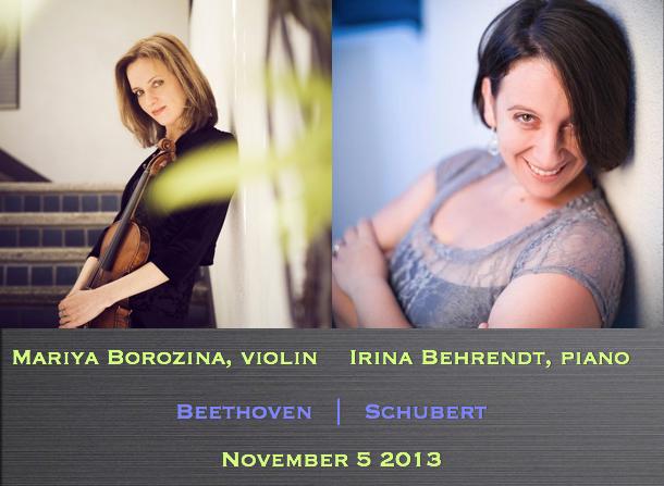 Mariya Borozina, violin / Irina Behrendt, piano