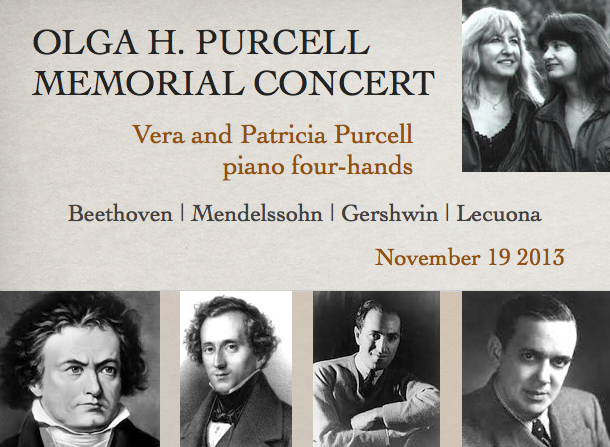 Vera and Patricia Purcell, piano four-hands