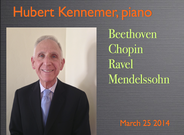 Hubert Kennemer, piano