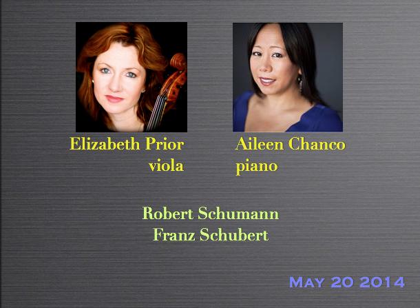 Elizabeth Prior, viola / Aileen Chanco, piano