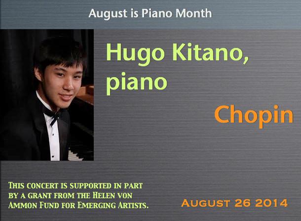 Hugo Kitano, piano
