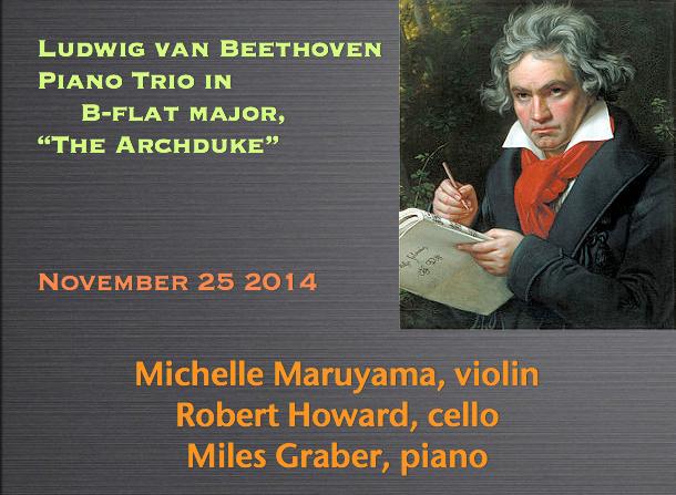 Michelle Maruyama, violin / Robert Howard, cello / Miles Graber, piano