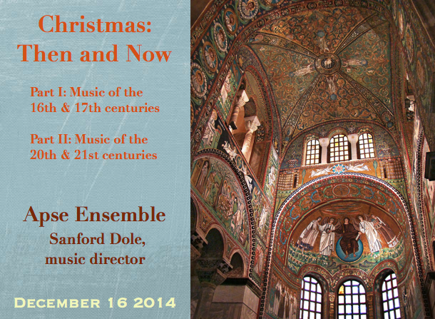 Apse Ensemble – Christmas: Then and Now