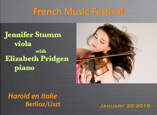 Jennifer Stumm, viola / Elizabeth Pridgen, piano