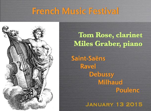 Tom Rose, clarinet / Miles Graber, piano