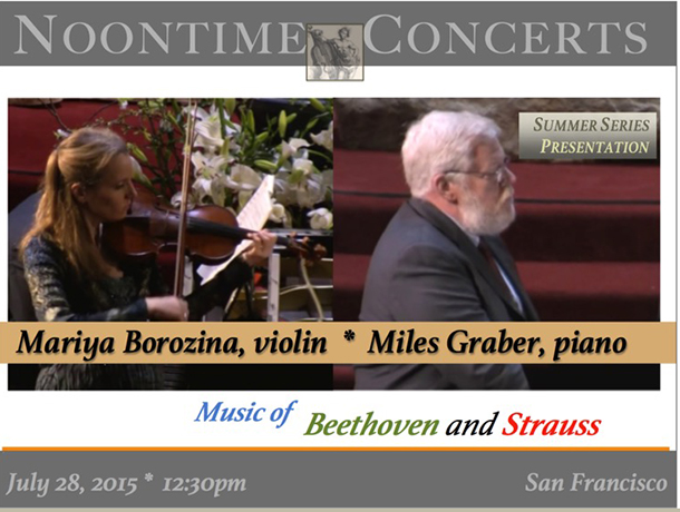 Mariya Borozina, violin | Miles Graber, piano