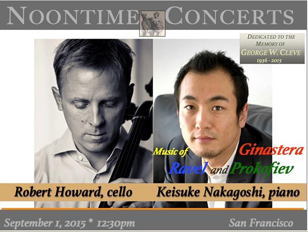 Robert Howard, Cello / Keisuke Nakagoshi, Piano