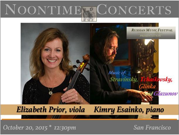 Elizabeth Prior, viola / Kymry Esainko, piano