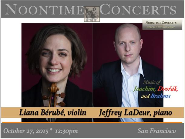 Liana Bérubé, violin / Jeffrey LaDeur, piano