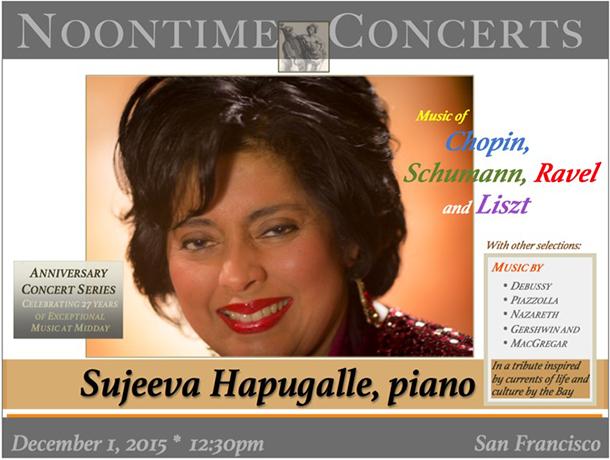ANNIVERSARY CONCERT SERIES – Sujeeva Hapugalle, piano