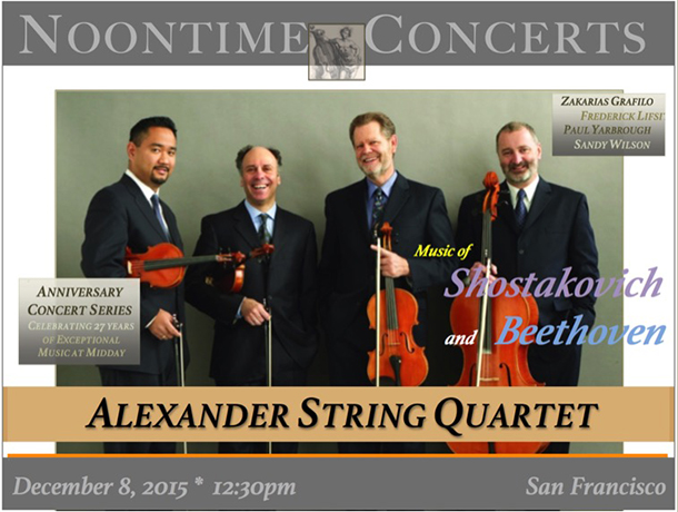 ANNIVERSARY CONCERT SERIES: CELEBRATING 27 YEARS – ALEXANDER STRING QUARTET