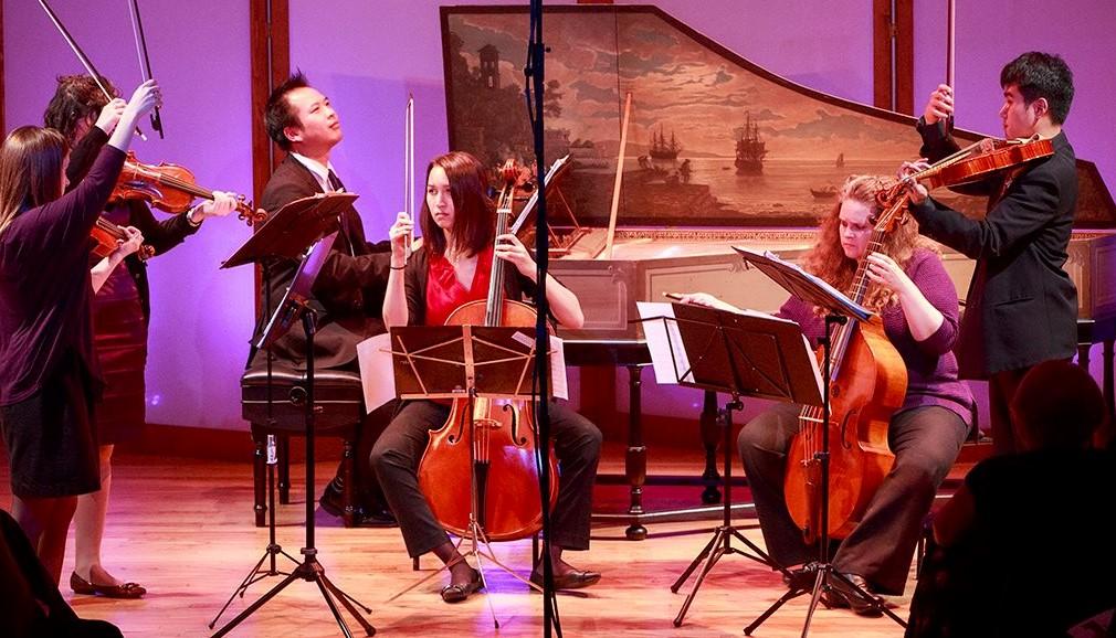 MUSA    Adi Liu and Laura Rubinstein-Salzedo, violin / Laura Gaynon, cello / Derek Tam, harpsichord