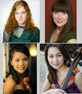Allegra Chapman, piano / Cassandra Bequary, violin / Jessica Chang, viola / Laura Gaynon, cello
