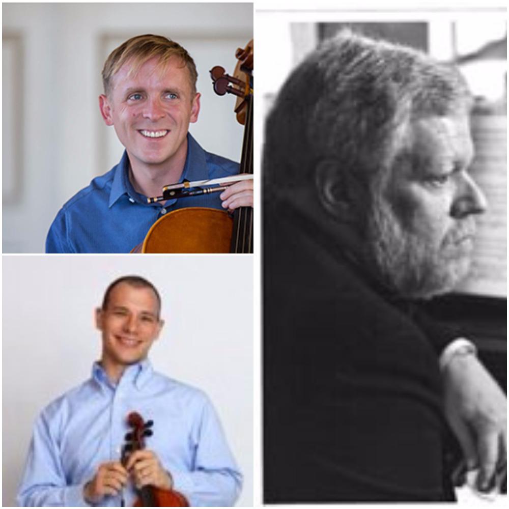 Robert Howard, cello; Jeremy Preston, violin; Miles Graber, piano