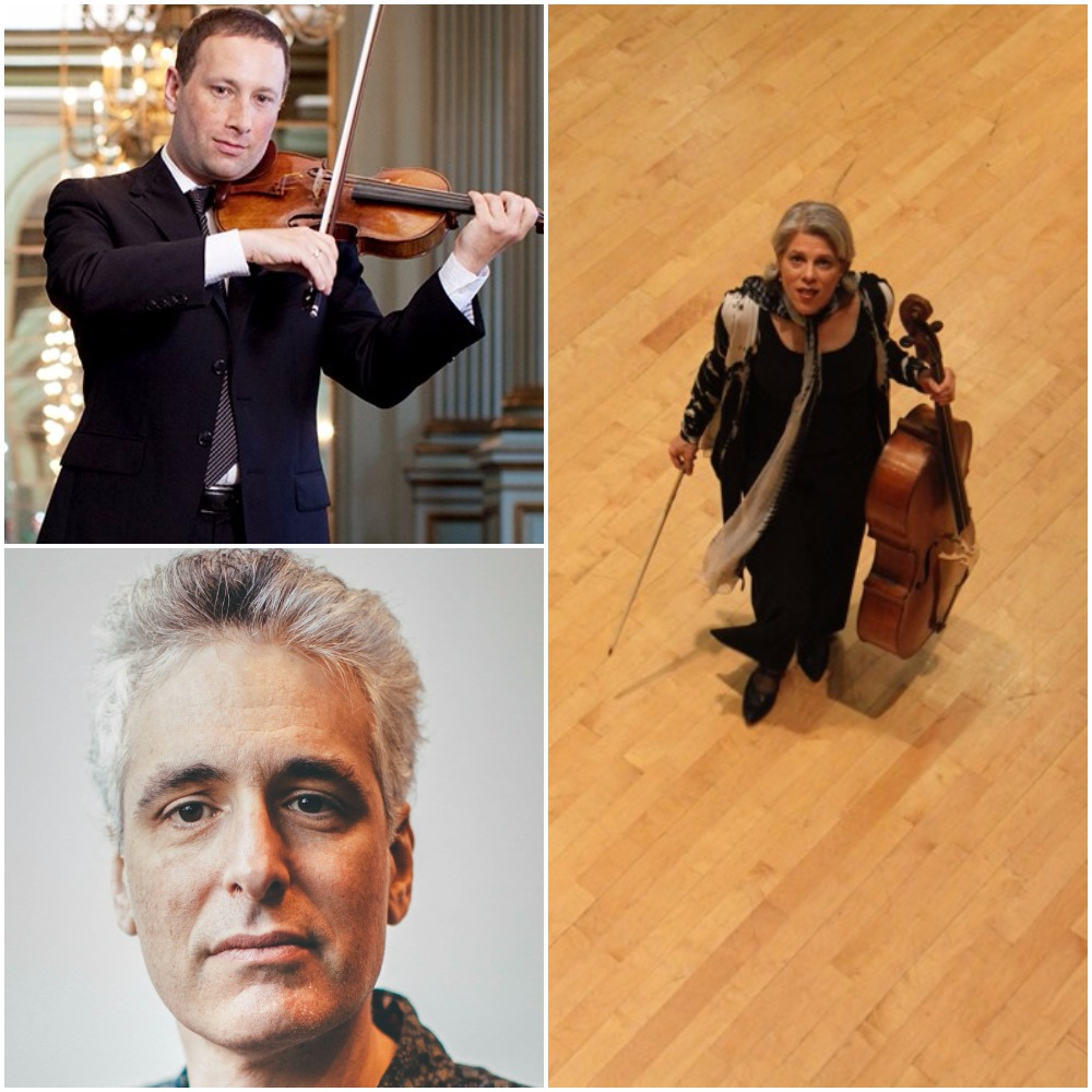 Tom Stone, violin; Tanya Tomkins, cello; Eric Zivian, piano