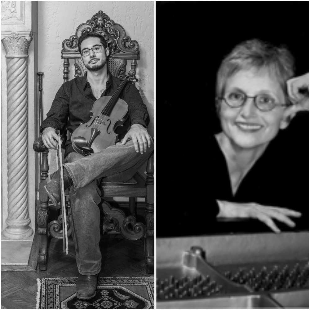 Justin Ouellet, Viola and Karen Rosenak, Piano