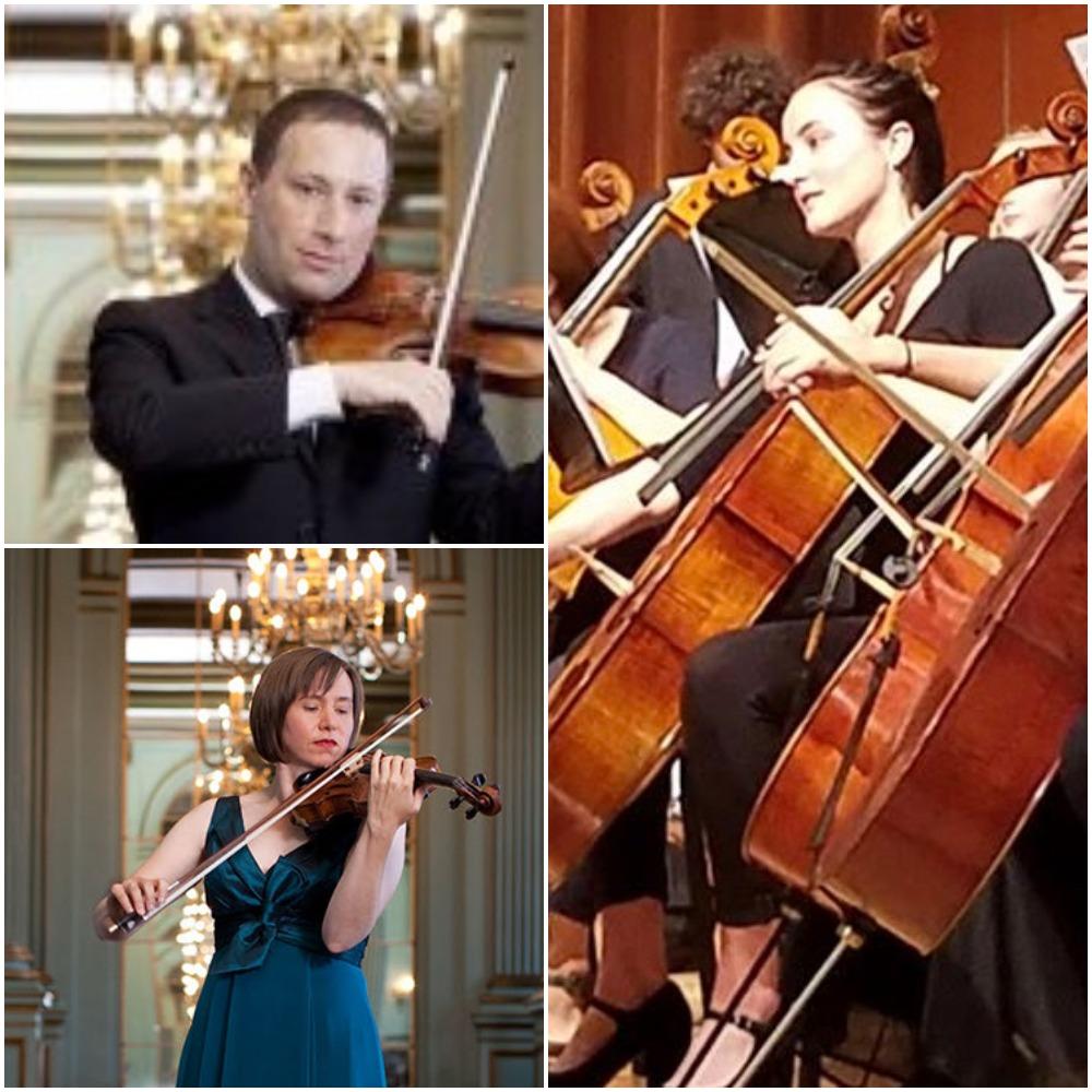 Cecily Ward, Violin; Tom Stone Viola; Jessamyn Fry, Cello