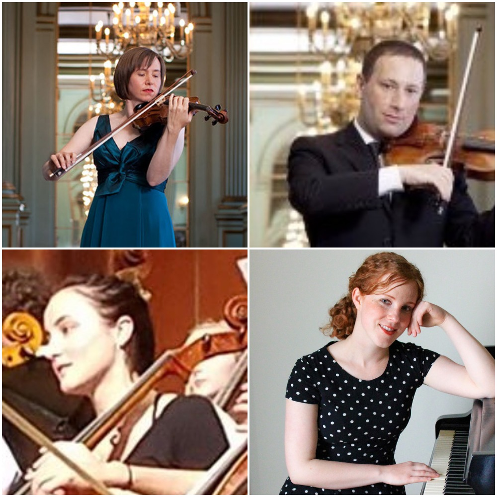 Cecily Ward, Violin; Tom Stone, Violin and Viola; Jessamyn Fry, Cello; Allegra Chapman, Piano