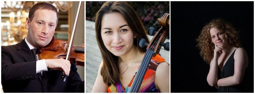 Tom Stone, Violin; Laura Gaynon, Cello; Allegra Chapman, Piano